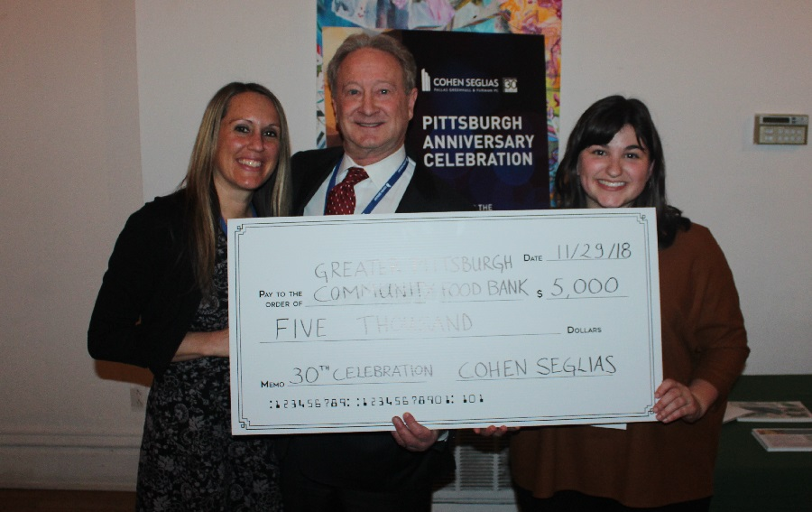 Cohen Seglias Supports Greater Pittsburgh Community Food Bank