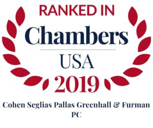 Cohen Seglias Ranked in Chambers USA 2019